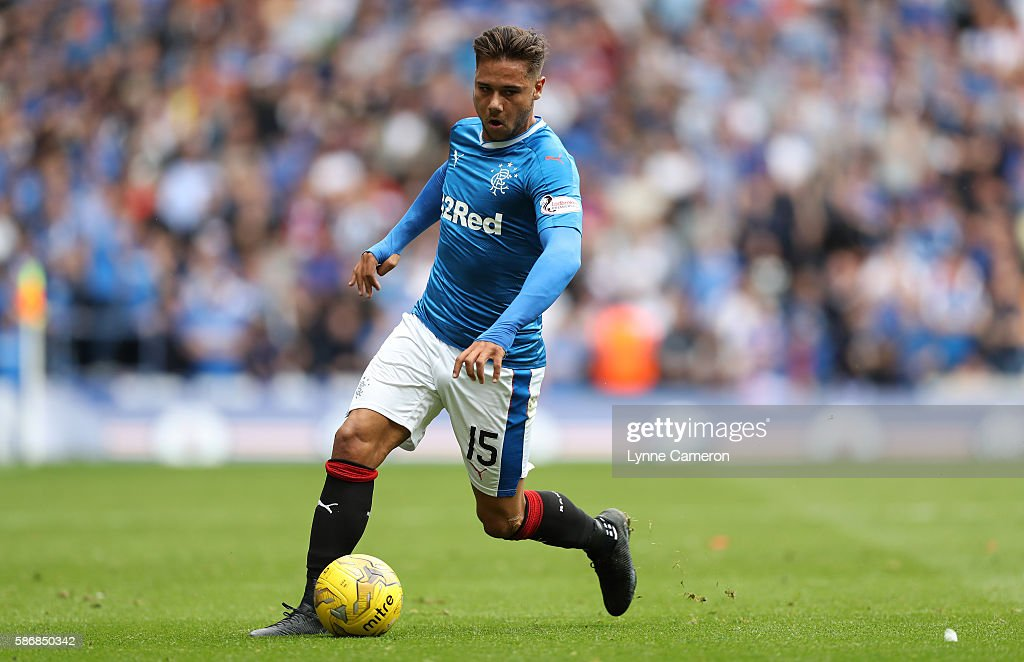 Harry Forrester of Rangers during the Ladbrokes Scottish Premiership match between Rangers and Hamilton Academical at Ibrox Stadium on August 6, 2016 in Glasgow, Scotland.
