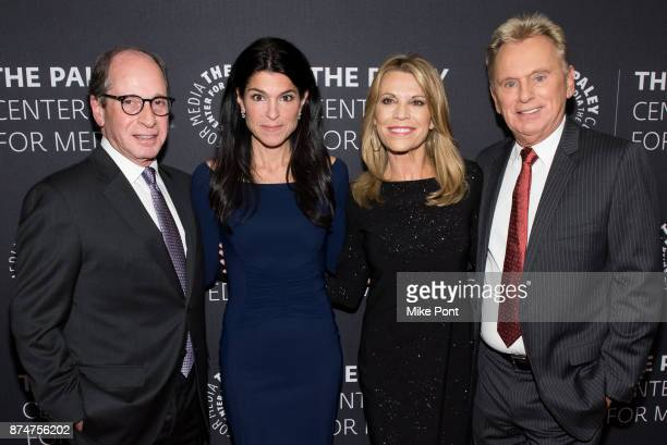 Harry Friedman Maureen J Reidy Vanna White and Pat Sajak attend The Paley Center For Media Presents Wheel Of Fortune 35 Years As America's Game at...