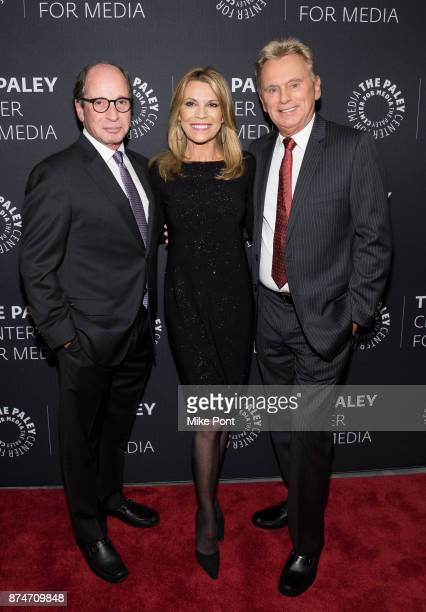 Harry Friedman Vanna White and Pat Sajak attend The Paley Center For Media Presents Wheel Of Fortune 35 Years As America's Game at The Paley Center...