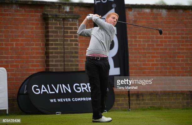 Harry Green of Wisley Golf Club plays his first shot on the 1st tee during Day One of the Galvin Green PGA Assistants' Championship at Coxmoor Golf...