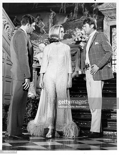 Harry Guardino Dina Merrill and Troy Donahue in a scene from the tv movie 'The Lonely Profession' 1969