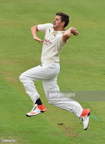 Harry Gurney of Nottinghamshire in action during the LV County Championship match between Nottinghamshire and Middlesex at Trent Bridge on July 5...