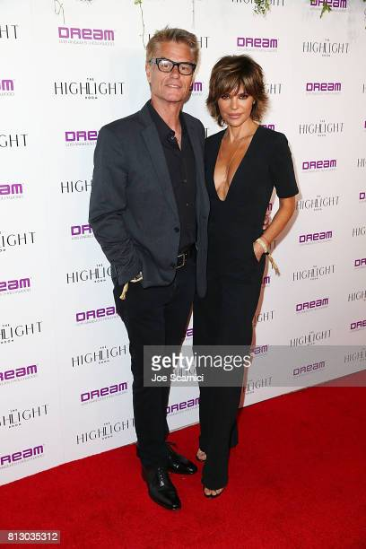 Harry Hamlin and Lisa Rinna arrive at the Grand Opening of The Highlight Room at DREAM Hollywood on July 11 2017 in Hollywood California