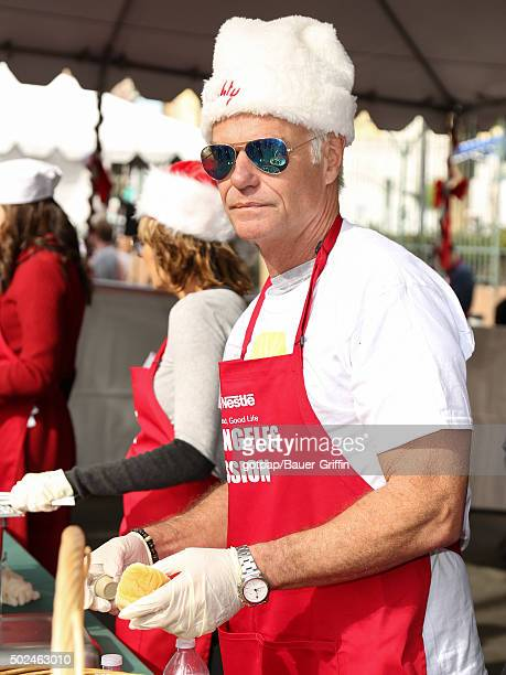 Harry Hamlin is seen at the annual Los Angeles Mission Christmas Dinner on December 24 2015 in Los Angeles California