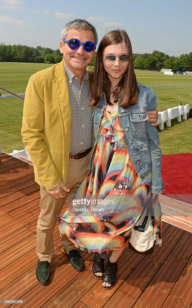 Harry Handelsman (L) attends day two of the Audi Polo Challenge at Coworth Park on May 29, 2016 in London, England.