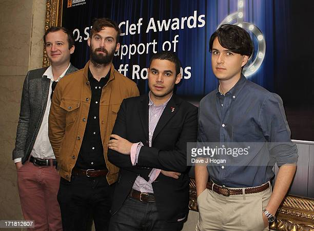 Harry Herd and his band Vampire Weekend attending the Nordoff Robbins Silver Clef Awards at London Hilton on June 28 2013 in London England
