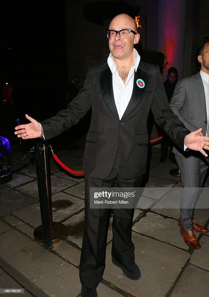 <a gi-track='captionPersonalityLinkClicked' href=/galleries/search?phrase=Harry+Hill&family=editorial&specificpeople=228845 ng-click='$event.stopPropagation()'>Harry Hill</a> at the I Can't Sing opening night party held at One Marylebone on March 26, 2014 in London, England.