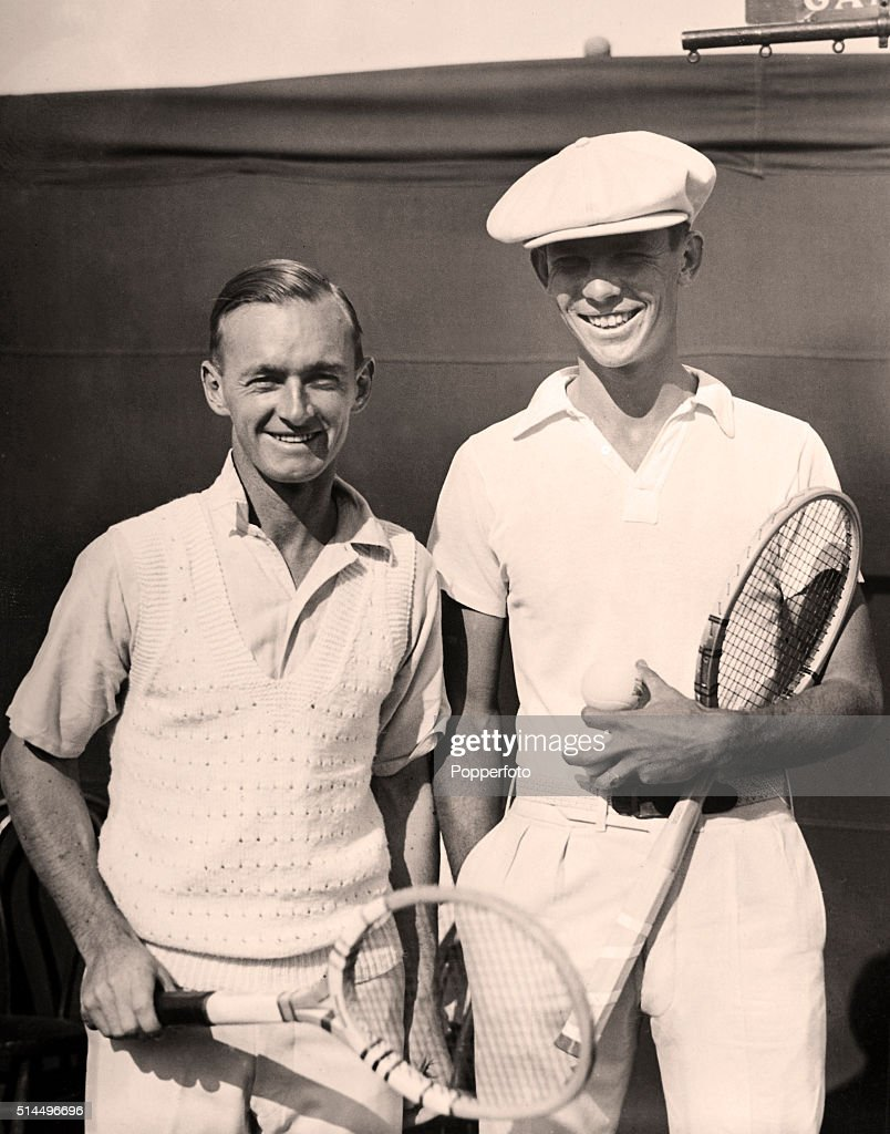 Harry Hopman And Ellsworth Vines Davis Cup