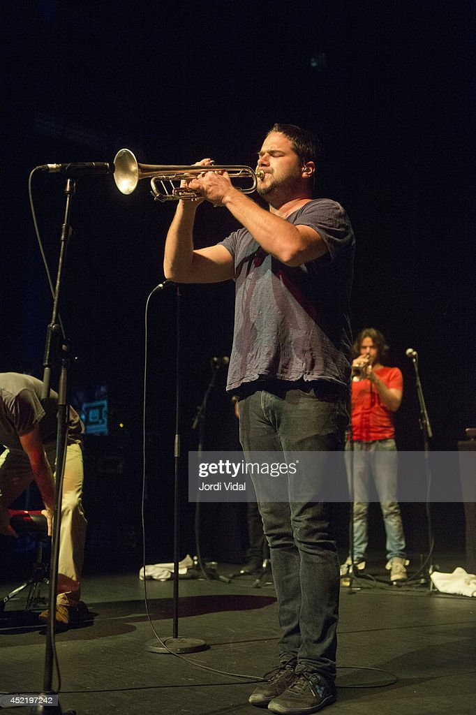 Harry James Angus of The Cat Empire performs on stage at Barts on July 15, 2014 in Barcelona, Spain.