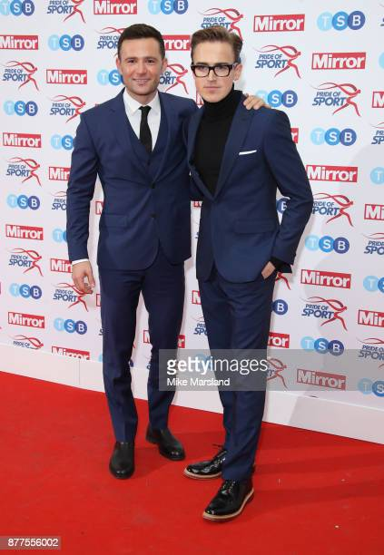 Harry Judd and Tom Fletcher attend the Pride of Sport awards at Grosvenor House on November 22 2017 in London England
