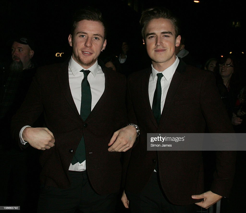 Harry Judd and Tom Fletcher of Mcfly sighting on November 18, 2012 in London, England.