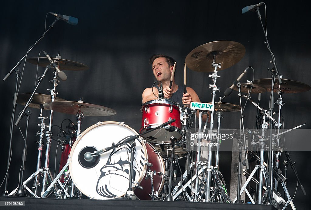 Harry Judd of McFly performs on stage on Day 1 of Fusion Festival 2013 at Cofton Park on August 31, 2013 in Birmingham, England.