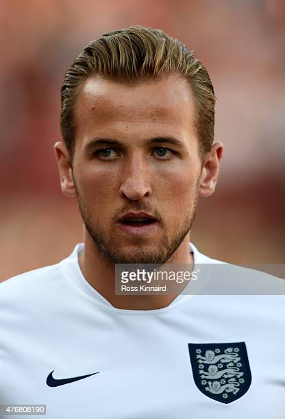 Harry Kane of England during the international friendly match between England U21 and Belarus U21 at Oakwell Stadium on June 11 2015 in Barnsley...