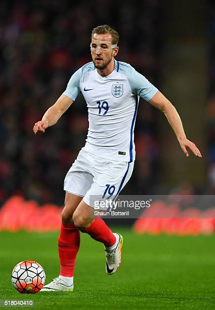 Harry Kane of England during the International Friendly match between England and Netherlands at Wembley Stadium on March 29 2016 in London England