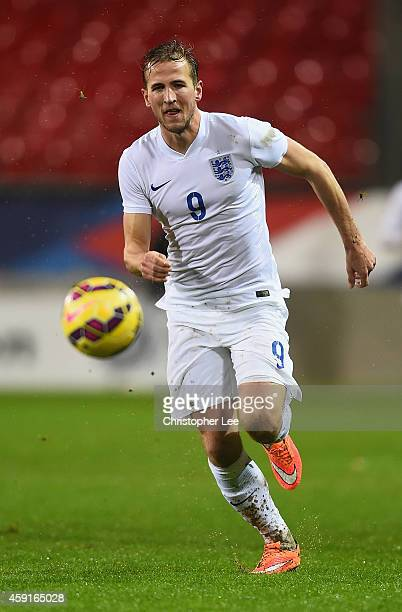 Harry Kane of England during the U21 International Friendly match between France and England at the Stade Francis Le Ble on November 17 2014 in Brest...