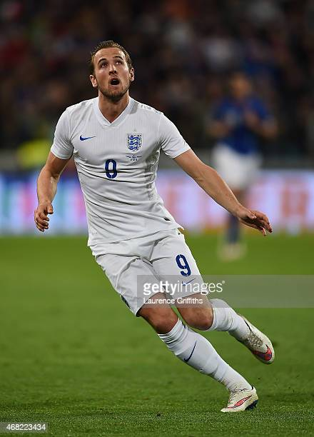 Harry Kane of England in action during the international friendly match between Italy and England at the Juventus Arena on March 31 2015 in Turin...