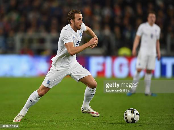 Harry Kane of England in action during the International Friendly match between Italy and England at Juventus Stadium on March 31 2015 in Turin Italy