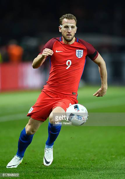 Harry Kane of England in action during the International Friendly match between Germany and England at Olympiastadion on March 26 2016 in Berlin...
