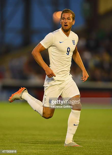 Harry Kane of England in action during the International Match between England U21 and Belarus U21 at Oakwell Stadium on June 11 2015 in Barnsley...