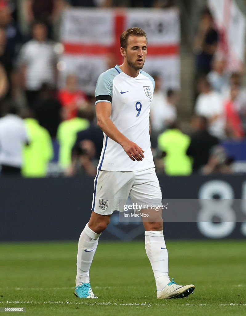 Harry Kane of England reacts at full time during the international Friendly match between France and England at Stade de France, on June 13, 2017 in Paris, France.