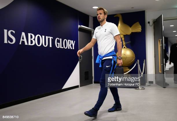 Harry Kane of Tottenham Hotspur arrives prior to the Carabao Cup Third Round match between Tottenham Hotspur and Barnsley at Wembley Stadium on...