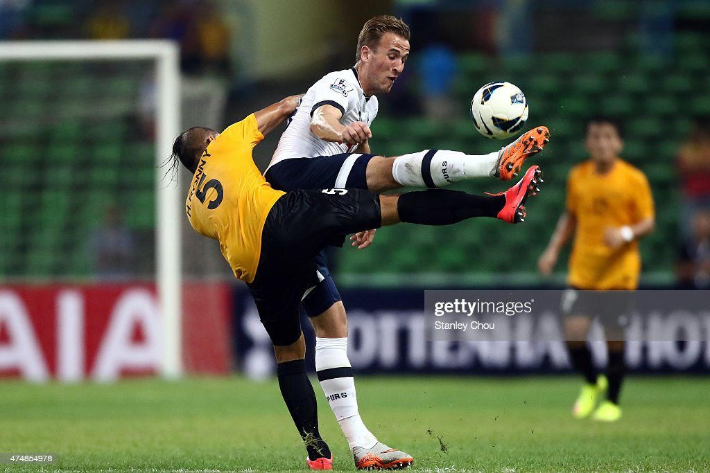 Harry Kane of Tottenham Hotspur controls the ball during the pre-season friendly match between Malaysia XI and Tottenham Hotspur at Shah Alam Stadium on May 27, 2015 in Shah Alam, Malaysia.