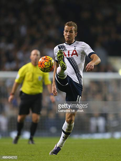 Harry Kane of Tottenham Hotspur during the Barclays Premier League match between Tottenham Hotspur and Aston Villa at White Hart Lane on November 2...