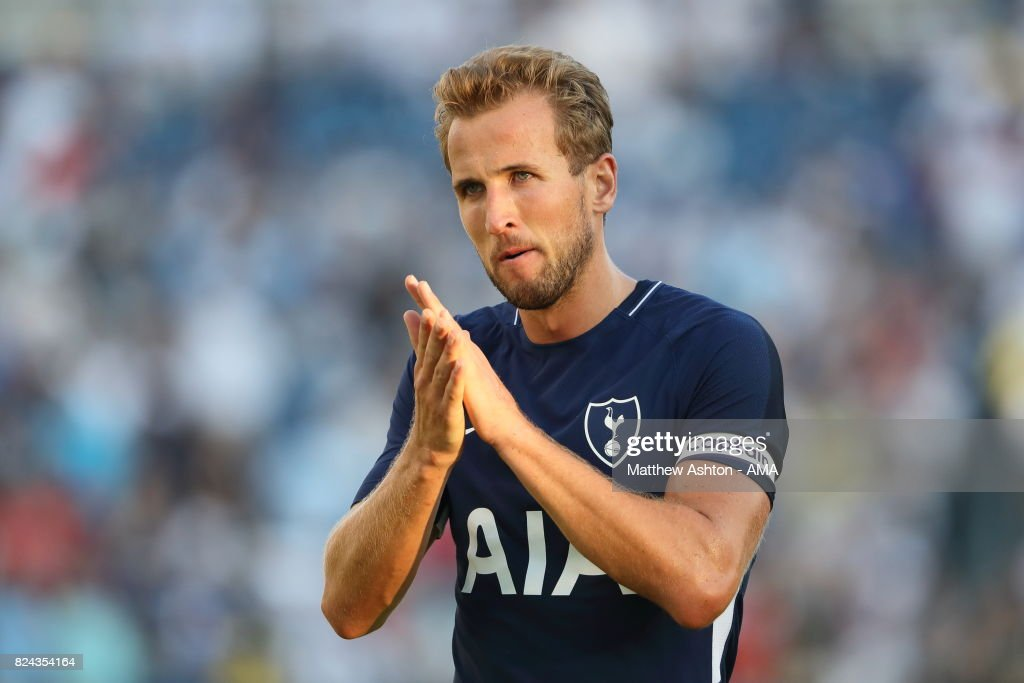 Harry Kane of Tottenham Hotspur during the International Champions Cup 2017 match between Manchester City and Tottenham Hotspur at Nissan Stadium on July 29, 2017 in Nashville, Tennessee.