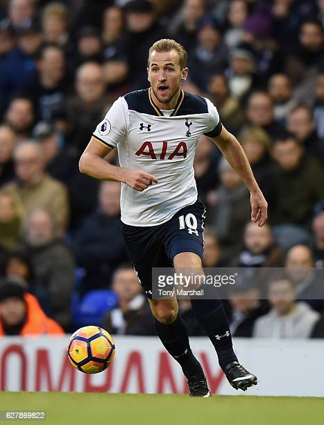 Harry Kane of Tottenham Hotspur during the Premier League match between Tottenham Hotspur and Swansea City at White Hart Lane on December 3 2016 in...
