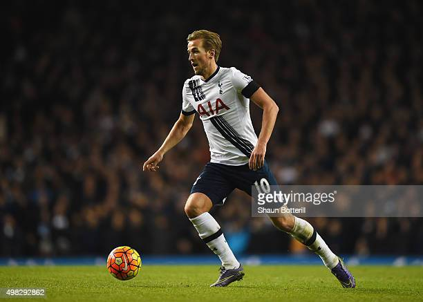 Harry Kane of Tottenham Hotspur in action during the Barclays Premier League match between Tottenham Hotspur and West Ham United at White Hart Lane...