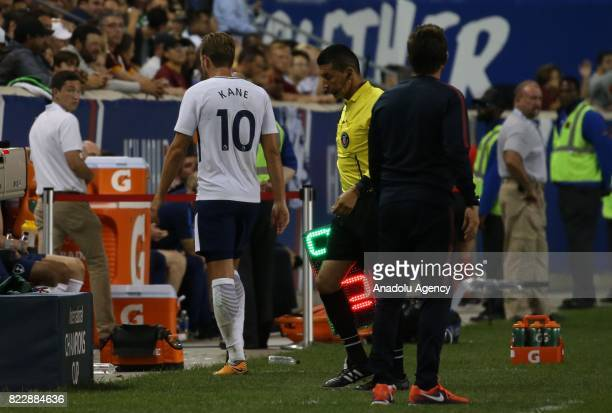 Harry Kane of Tottenham Hotspur leaves the pitch during International Champions Cup 2017 friendly match between AS Roma and Tottenham Hotspur at...