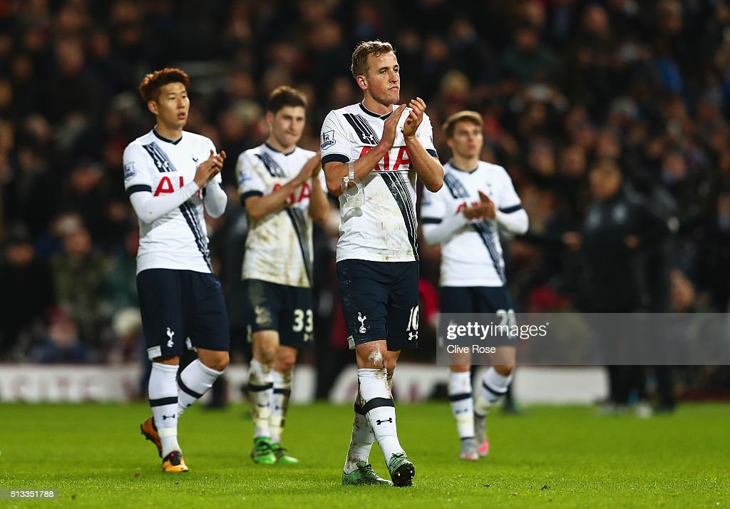Harry Kane of Tottenham Hotspur walks off dejected after the Barclays Premier League match between West Ham United and Tottenham Hotspur at Boleyn Ground on March 2, 2016 in London, England.