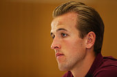 Harry Kane speaks to the media during the England press conference at St Georges Park on September 2 2015 in BurtonuponTrent England