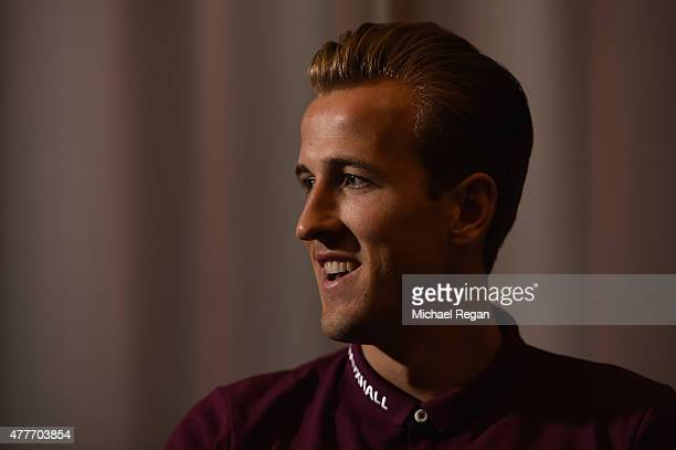 Harry Kane speaks to the media during the England U21 training session and press conference on June 19 2015 in Olomouc Czech Republic