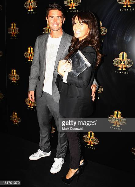 Harry Kewell and Sheree Murphy arrive at the official opening of 'Club 23' at the Crown Entertainment Complex on November 7 2011 in Melbourne...