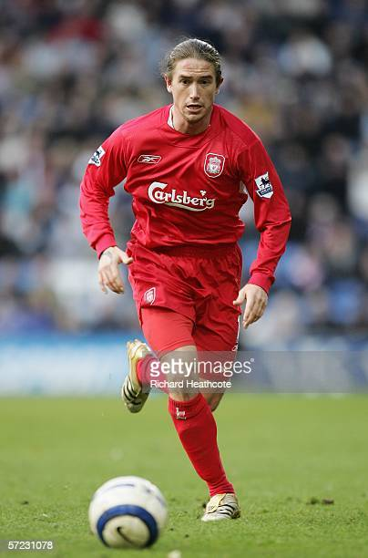 Harry Kewell of Liverpool in action during the Barclays Premiership match between West Bromwich Albion and Liverpool at the Hawthorns on April 1 2006...