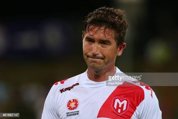 Harry Kewell of the Heart looks on after being substituted out of the game during the round 14 ALeague match between Perth Glory and the Melbourne...