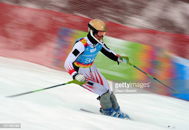 Harry Laidlaw of Australia in action during the men's Slalom event on January 21 2012 in Patscherkofel Austria