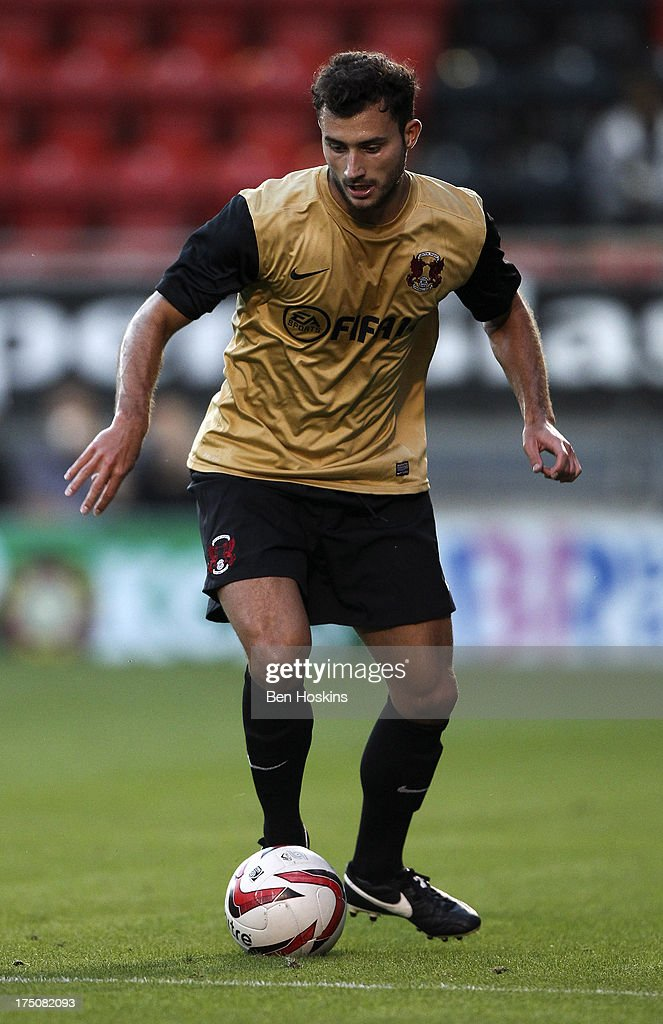 Harry Lee of Leyton Orient in action during a pre season friendly match between Leyton Orient and an Arsenal XI at the Matchroom Stadium on July 30, 2013 in London, England.