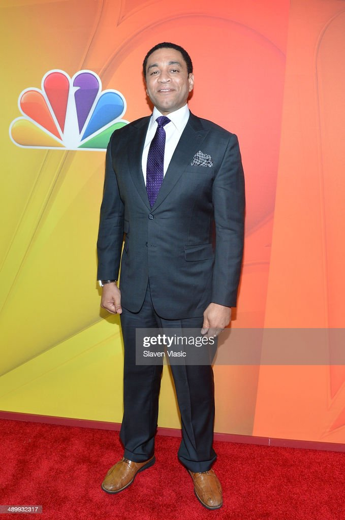 Harry Lennix attends the 2014 NBC Upfront Presentation at The Jacob K Javits Convention Center on May 12 2014 in New York City