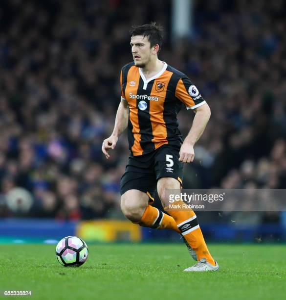 Harry Maguire of Everton during the Premier League match between Everton and Hull City at Goodison Park on March 18 2017 in Liverpool England