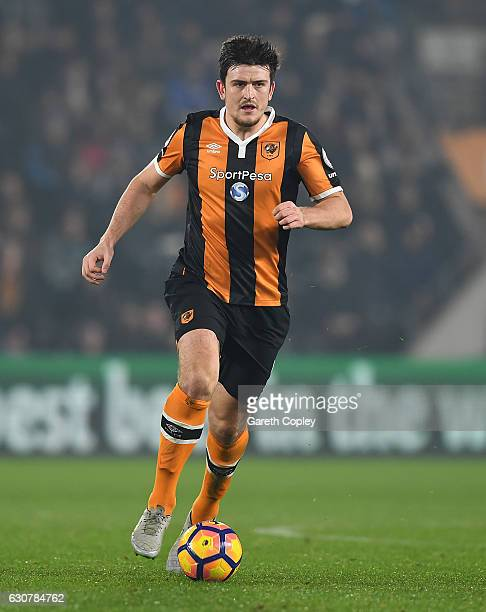 Harry Maguire of Hull City during the Premier League match between Hull City and Everton at KC Stadium on December 30 2016 in Hull England