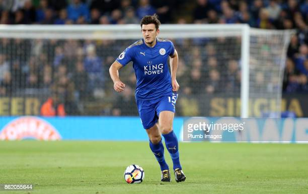 Harry Maguire of Leicester City during the Premier League match between Leicester City and West Bromwich Albion at King Power Stadium on October 16th...