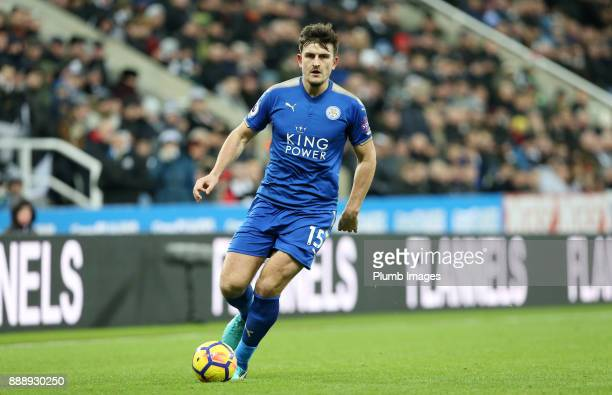 Harry Maguire of Leicester City during the Premier League match between Newcastle United and Leicester City at St James Park on December 9th 2017 in...