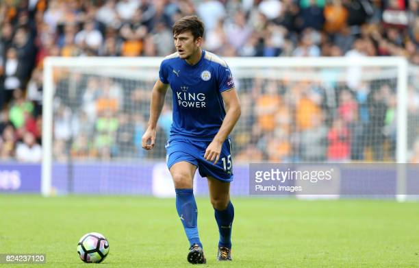Harry Maguire of Leicester City in action during the pre season friendly between Wolverhampton Wanderers and Leicester City on July 29th 2017 in...