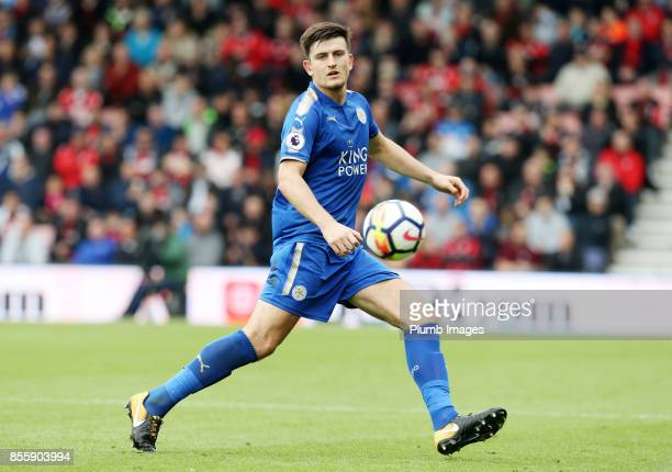 Harry Maguire of Leicester City in action during the Premier League match between Bournemouth and Leicester City at Vitality Stadium on September...