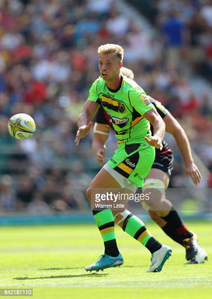 Harry Mallinder of Northampton in action during the Aviva Premiership match between Saracens and Northampton Saints at Twickenham Stadium on...