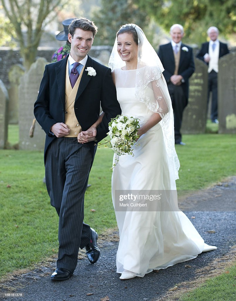 Harry Mead And Rosie Bradford At Their Wedding In The Village Of Northleach, Gloucestershire.