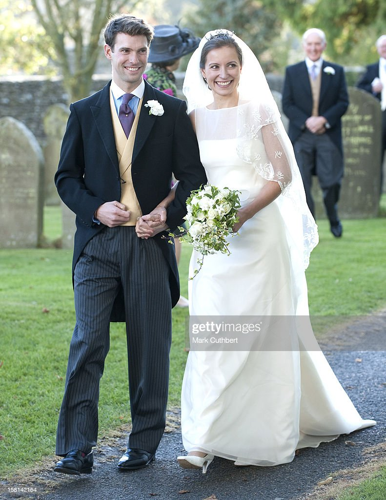 Harry Mead And Rosie Bradford On Their Wedding In The Village Of Northleach, Gloucestershire.