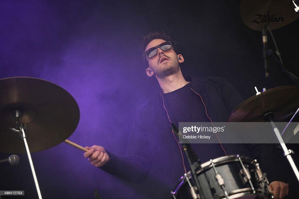 Harry Mead of Klangkarussell performs at day 2 of the Forbidden Fruit festival at Royal Hospital Kilmainham on June 1, 2014 in Dublin, Ireland.